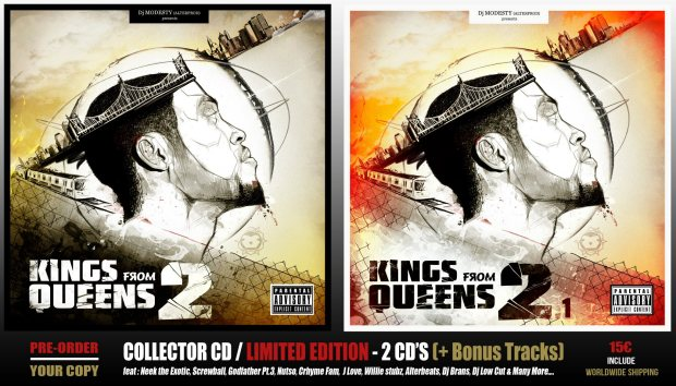 DJ MODESTY (ALTERROD) presents the Double Album KINGS FROM QUEENS 2 & 2.1 (COLLECTOR-LIMITED EDITION)
